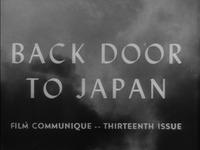 Film Communique: Thirteenth Issue: Back Door to Japan