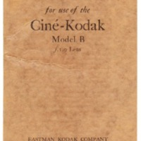 Ciné-Kodak Model B Instruction Manual
