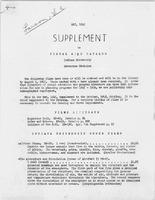 I.U. Bureau of Audio-Visual Aids May, 1945 Supplement to the Visual Aids Catalog