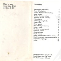 Nizo S56 Instruction Manual