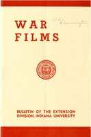 War Films, Bulletin of the Extension Division, Indiana University