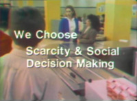 We Choose: Scarcity and Social Decision Making