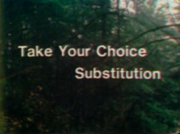 Take Your Choice: Substitution
