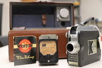 """<div style=""""text-align: center;""""><em><a href=""""http://collections.libraries.indiana.edu/IULMIA/exhibits/show/alan-lewis-collection"""">Return to Collection Home Page</a></em></div><br /> <br />Magazine Cin&eacute;-Kodak Eight-90A"""
