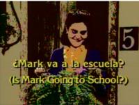 Mark va a la escuela?