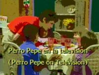 Perro Pepe en la televisión