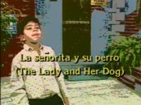 La senorita y su perro