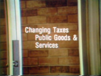 Changing Taxes: Public Goods and Services