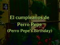 El cumpleanos de Perro Pepe