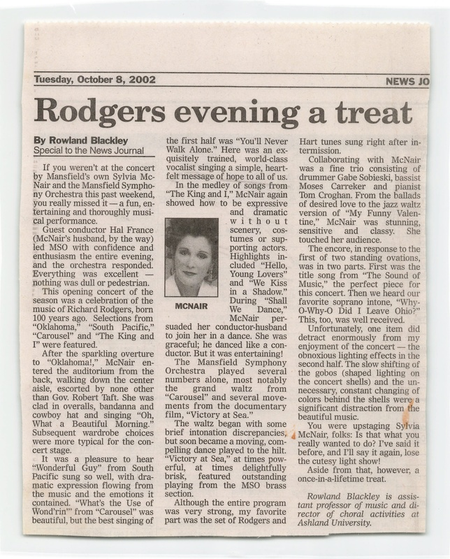 """""""Rodgers evening a treat""""<br />"""