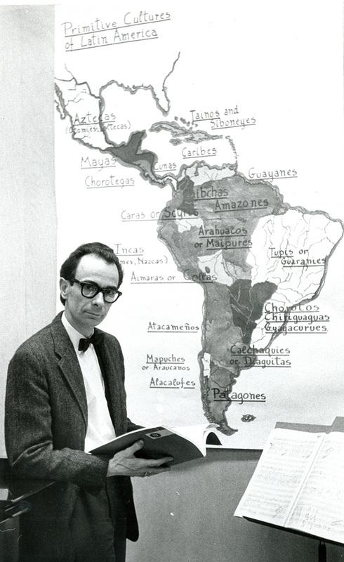 Photo: Orrego-Salas with map