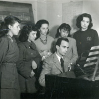 Photo: Orrego-Salas teaching in Chile