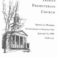 Robert Shaw service Trinity Pres Church Jan 31 1999 p.1.jpg