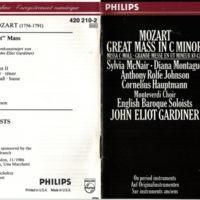Monteverdi Choir:English Baroque Soloists Mozart Great Mass in C Minor CD p.1.jpg