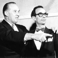 Photo: Orrego-Salas with Dean Emeritus Wilfred Bain, ca. 1961