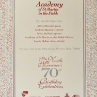 Academy of St. Martin in the Fields Sir Neville Marriner's 70th Birthday Celebrations April 5 1994 p.1.jpg