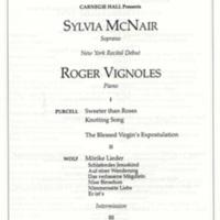 Carnegie Hall Presents Sylvia McNair NY Recital Debut May 1 1992 p.2.jpg