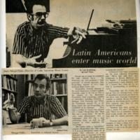 "Scrapbook: ""Latin Americans enter music world"" article"