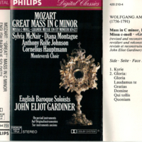 Mozart: Great Mass in C Minor English Baroque Soloists Cassette p.1.jpg