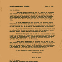 Letter: To Ashton from Flora M. Rhind, 1962
