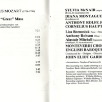 Monteverdi Choir:English Baroque Soloists Mozart Great Mass in C Minor CD p.2.jpg