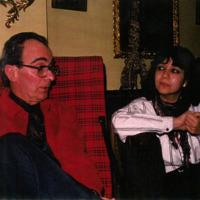 Photo: Juan Orrego-Salas with Carmen-Helena Téllez