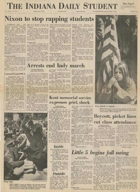 Indiana Daily Student, May 8, 1970, page 1