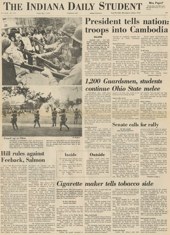 Indiana Daily Student, May 1, 1970, page 1