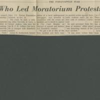 IU Teacher Who Led Moratorium Protests is Suspended