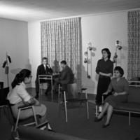 People sitting in International Center<br /><br /> <br /><br />