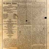 First issue of what would become known as The Indiana Daily Student