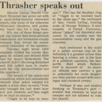 """Thrasher Speaks Out"""