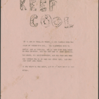 """Keep Cool"" Flyer"
