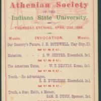 Athenian Society Program