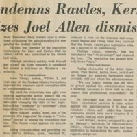 """Senate Condemns Rawles, Kerr Acts"""