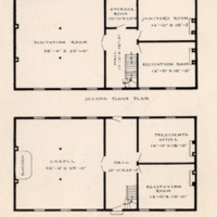 Floor plan of College Building built in 1836 on Seminary Square Campus