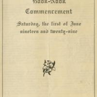 3rd Annual Book Nook Commencement program