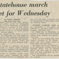 """Statehouse March set for Wednesday"""