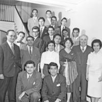 Herman B Wells with Peruvian students