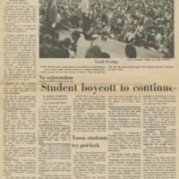 """Student Boycott to Continue"""