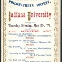 Philomathean Society Program