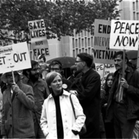 Protestors Against Rusk Visit