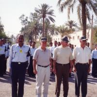 Senators Richard Lugar, Chuck Hagel, and Joe Biden with the Iraqi Police