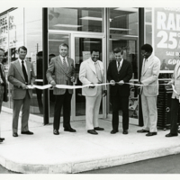 Mayor Richard Lugar Cutting the Ribbon at a Goodyear Tire Store opening