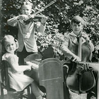 Anne, Tom, and Richard Lugar as Children
