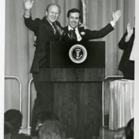 Mayor Richard Lugar and President Gerald Ford
