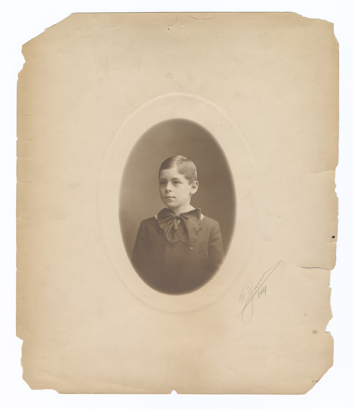 Hermann J. Muller as a young child