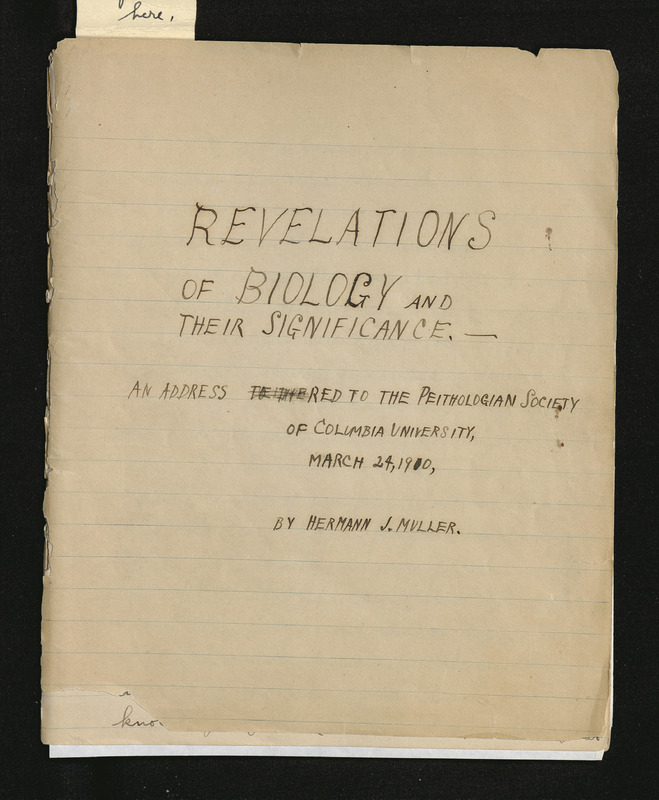 Revelations in Biology and Their Significance