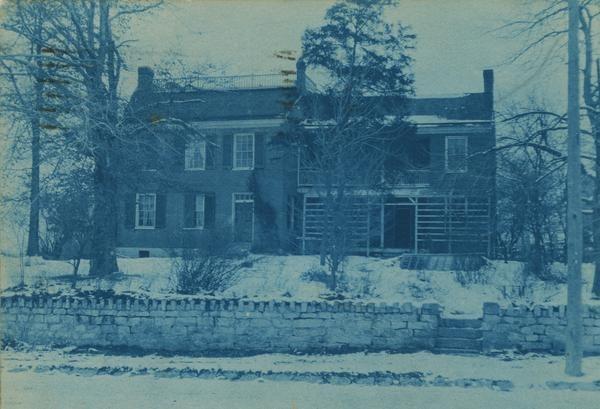 Cyantotype Postcard of Wylie House