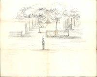 Drawing of Civil War Encampment